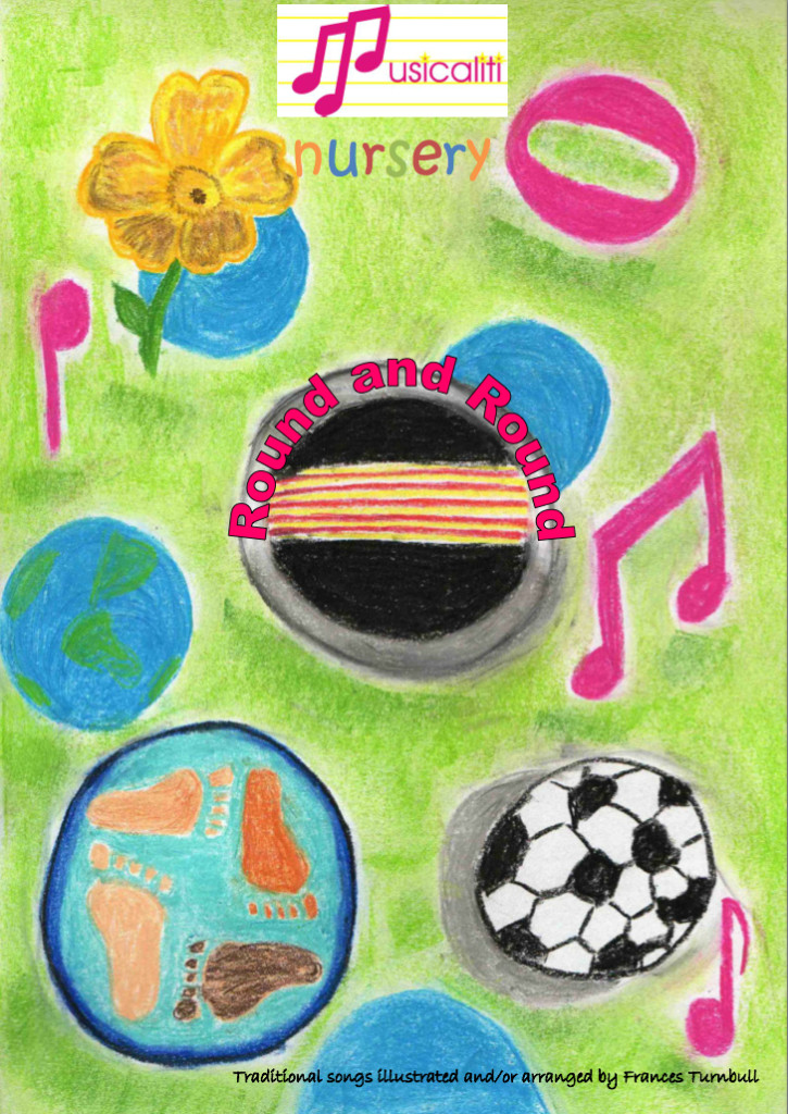 Round and Round nursery song book