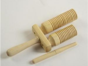 wooden double agogo