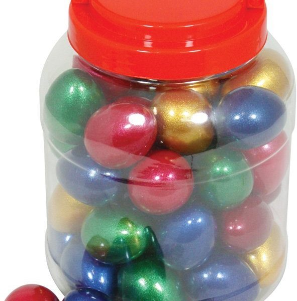 Metallic egg shakers
